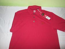 New Nwt Mens M medium Cutter Buck Drytec Polo Shirt Us open tennis red