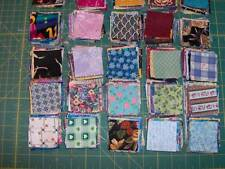 """200 assorted 2-1/2"""" cotton fabric squares, die-cut and ready to sew"""