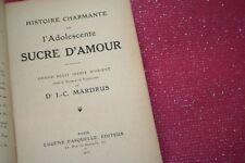SUCRE D'AMOUR HISTOIRE CHARMANTE DE L'ADOLESCENTE éd. EUGENE FASQUELLE 1927