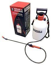 Pulverizador de agua de presión bomba de mano de jardín, 5 L Boquilla Ajustable, niebla de pulverización