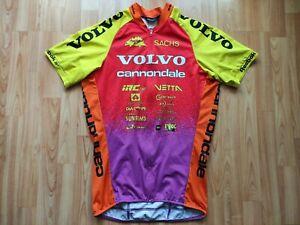 Libor Karas Volvo Cannondale Team 1996 Full Zip Short Sleeve Cycling Jersey L