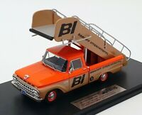 Goldvarg 1/43 Scale GC-BI-003 - 1965 Ford Braniff Stairs Truck - Orange/Brown