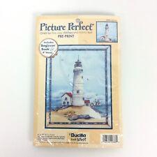 Lighthouse Bucilla Picture Perfect Printed Cross Stitch Kit 42386 New 1999 USA