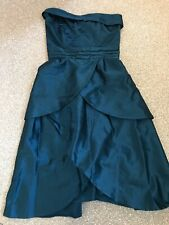 Warehouse size 10 terquoise strapless corset dress