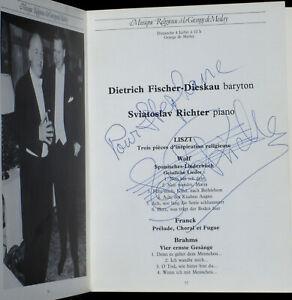Signed Sviatoslav Richter ! Livret des programmes La Grange de Meslay 1982