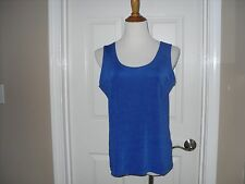 New Chico's Travelers Contemporary Tank Top 3  (16-18) or XL Blue NWT