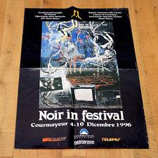 NOIR IN FESTIVAL poster manifesto Schifano Valle d'Aosta Courmayeur Mountain