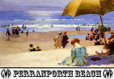 Carril de playa de PERRANPORTH Ferrocarril viajar cartel impresión