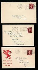 SCOTLAND EMPIRE EXHIBITION 1938 SLOGAN PMKs BELFAST MANCHESTER GLASGOW 3 COVERS