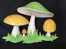 Vintage Retro Mod Mushroom Plastic Wall Art 1970