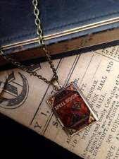 Spell Book Photo LOCKET Necklace Pendant Steampunk Magic Fairy Halloween Wicca