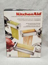 KitchenAid KSMPRA 3 Piece Pasta Roller & Cutter Attachment Set, Silver