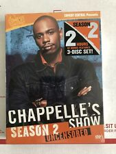 Chappelles Show - Season 2 Uncensored (DVD, 2005, 3-Disc Set) Brand New