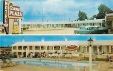 Corinth MS~Corona Plaza Motel~Neon Sign~Darwin Thiel~Owner~NICE 1950s Cars~PC