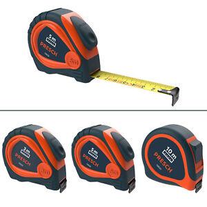 PRESCH Bandmaß 3m, 5m oder 10m   Rollmaßband Messband Maßband robust m. Rücklauf