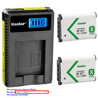 Kastar Battery LCD USB Charger for Sony NP-BX1 BC-CSX & Sony FDR-X1000V Camera