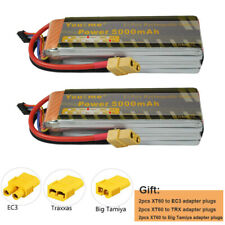 2pcs Youme 4S 14.8V 5000mAh RC Lipo Battery 50C 100C for RC Drone Airplane Truck