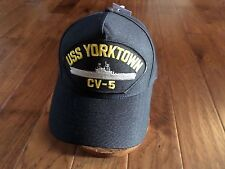 USS YORKTOWN CV-5  NAVY SHIP HAT U.S MILITARY OFFICIAL BALL CAP U.S.A MADE
