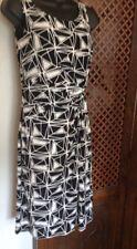 précis Dress, Striking Geometric Design In Black And White, Pencil Dress, New, 8
