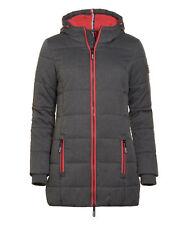 Superdry abrigo Women alto Sports Tampón de Marga gris L