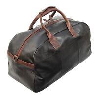 SALE - Prime Hide Soft Black Oiled Leather Holdall Cabin Holdall Travel Bag -NEW