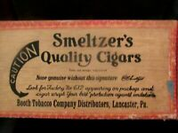 Vintage AMISH CULTURE Wood CIGAR BOX > SMELTZER'S QUALITY CIGARS, Lancaster Pa