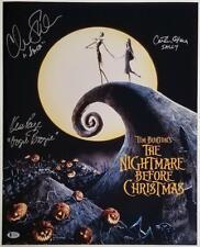 Nightmare Before Christmas Cast (3) signed 16x20 Photo Sarandon O'Hara Page~ BAS
