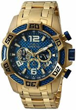 Invicta Mens Pro Diver Quartz Diving Watch W/ Stainless-Steel Strap, Gold, 26