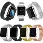 Stainless Steel Butterfly Wrist Bracelet Strap For Apple watch 3/2/1 38mm/42mm