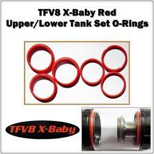 6- TFV8 X-Baby Red Up / Low Tank Set Orings ( ORing O-Rings smok Gasket Seals )