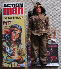 vintage action man 40th anniversary eagle eye indian gripping hands  boxed