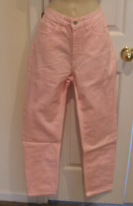 new/pkg $69 frederick's of hollywood CLASSIC pink denim jeans made in USA  9/10