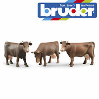 Bruder Farm Animal Cow Brown Kids Farming Toy Childrens Model Scale 1:16