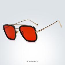 HOT Tony Stark Sunglasses Men Metal Avengers Iron Man Robert Downey Sun Glasses