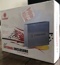 "COOLMAX 3.5"" EXTERNAL ENCLOSURE MODEL HD-389-U2 COMPLIANT W USB 2.0 New Sealed"