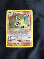 CHARIZARD - 4/102 - Base Set - Holo - Pokemon Card *heavily Damaged* Used