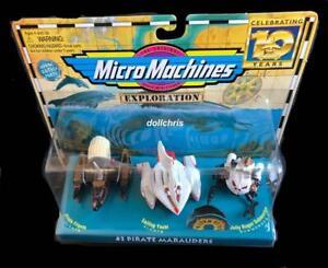 Micro Machines Pirate Marauders #3 Exploration Water Fun Boats NIP 66010 Galoob