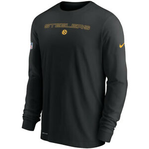 New Pittsburgh Steelers Nike Sideline Team Issue Performance Long Sleeve T-Shirt