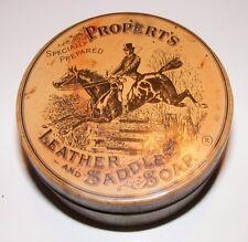 Vintage Properts Leather and Saddle Soap Tin