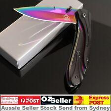 CSGO Titanium Fade Blade Rainbow Folding Hunting Pocket Knife Camping Knife