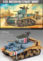 Academy 13270 Military 1/35 Scale Plastic Model Kit BRITISH M3 STUART Honey NIB