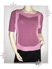 Haut T-shirt Fantaisie Prune / Vieux Rose Cop Copine Modèle  Antigua Taille 1