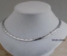 Damen Edelstahl Halskette Kette Collier mit Kreuze Farbe Silber 1616