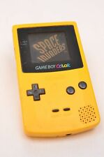 Nintendo Game Boy Color Yellow Handheld System CGB-001 - Space Invaders & Tetris