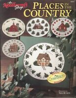 Places In The Country Cross Stitch Pattern Booklet 1990 Russos Barn School Cabin