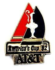 """KOMMUNIKATION Pin / Pins - AT&T / AMERICA'S CUP 1992 """"SEGELREGATTA"""" [2152D]"""