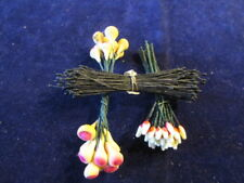 Vtg Millinery Flower Stamen Collection Black Yellow Red 3 Styles  Shabby H2319