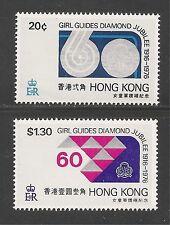 Hong Kong #328-329 (A59) VF MINT NH - 1976 60th Anniversary Of Girl Guides