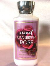 LOT 1 SWEET CRANBERRY ROSE BATH & BODY WORKS BODY LOTION HAND CREAM 8 FL OZ EA