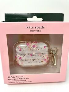 Kate Spade NY Protective Case for Apple AirPods Pro Spring Garden Pink Clear